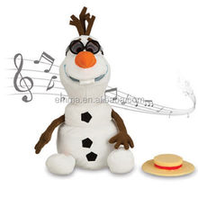 Cheap customized good quality olaf plush toy professional design olaf snowman lovely doll OF4022