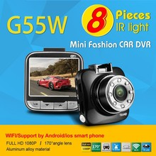 2.0 Inch 170 degree wide angle lens 5.0 MP CMOS HD support wifi car dvr mini car dvr wifi car dvr