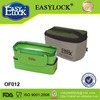 folding design personalized lock and seal plastic double layer lunch box