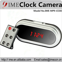 2015 fashion Mirror clcok smart alarm and snooze 1080p USB VMD hidden spy secretary clcok camera