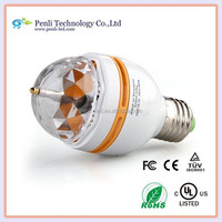 Voice-activated Crystal Rotating RGB LED Party Disco Stage Light Bulb