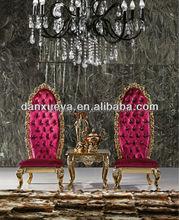 DanXueYa foshan latest design chairs red roayl throne waiting/wedding hign back chairs RO1#