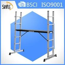 Ml-1106 4 forma de alumínio plataforma de trabalho de andaime escada escadas