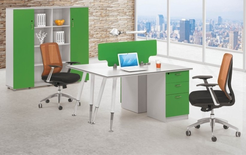 Person Melamine Staff Desk,Particle Office Table,Office Workstation