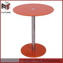 small round orange glass multifunctional ikea coffee table