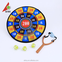 Hot wholesale safety ABS kids house toy digital dart board and bow shooter toy