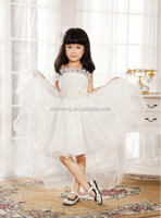 2015 New design boutique short front & long back flower girl dress