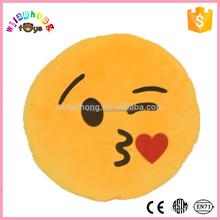 Nuevo diseño encantador suave emoji smiley emoticon de la almohadilla del amortiguador