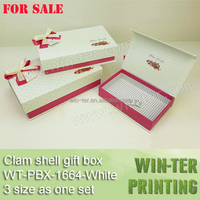 WT-PBX-1664-White Hot for sale ! Christmas gift box with clam shell structure
