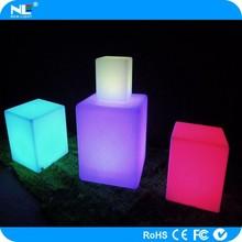 Alibaba hot sale 3D colorful LED shining light cube chair / LED cube light furniture