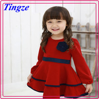 Wholesale latest 1-6 years old baby girl dress kids christmas winter long sleeve tutu party dress