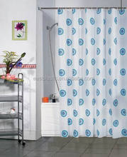 New popular transparent printed peva shower curtain