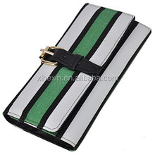 Women's Fashion Contracted Horizontal Stripes Wallet
