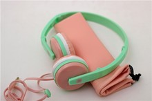 Top Selling Products 2015 Low Cost Headphone Macaroons Design, Hot Cell Phone Headphone Factory Price