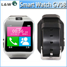 cheap watch phones for sale with high sensitive capacitive touch screen gv08 android bluetooth watch