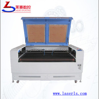 LS-1610 separate double heads 150w auto feeding laser cutting machine for pu leather shoes