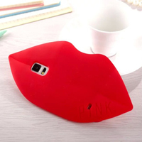 Luxury 3D Silicone Soft For Galaxy S4 Pink Lips Protective Shell Case, For Samsung Galaxy S4 I9500 Silicone Pink Case Cover