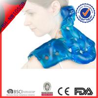 Blue color shoulder and neck warmer /rechargable heat pack