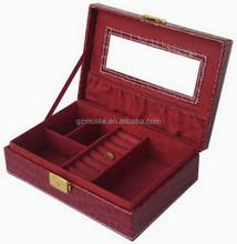 Quality hot sell pu leather jewelry box inside sponge