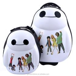 Kids Cute 4 Wheels Animal 3D School Bag Trolley Bag Backpack Travel Suit Case