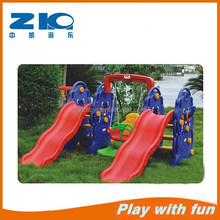 elephant playground plastic kids slide with swing