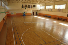 Inexpensive basketball sports pvc floor wooden surface with 6mm thickness