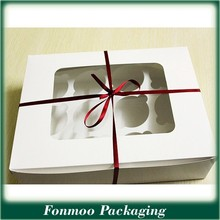 Alibaba supplier food packaging boxes cardboard window / cake boxes with window