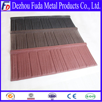 colorful stone chip coated metal roof tile manufacture