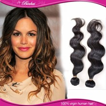 6A grade virgin brazilian hair , 100% human brazilian hair body wave