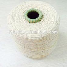 Ne 6/3 recycledcotton de poliéster mezcladas la torsión del hilo para tejer