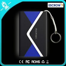 Ultra Thin Mobile Power Bank 4000 mah Polymer High Capacity Backup Battery Charger with leather Housing