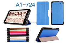 Silk Pattern 3-folding Leather Case For Acer Iconia Talk S A1-724