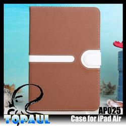 New design wholesale price flip leather case for ipad 5