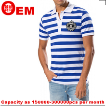 sample free cotton polo t shirts manufacturers China mens polo collar striped t shirt