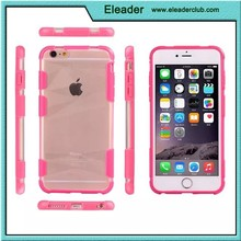 for iphone 6 transparent clear crystal cover with rubber gel bumper