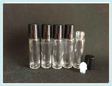 Alibaba china High-grade 10ml roll on glass bottle clear glass bottle for cosmetic packaging