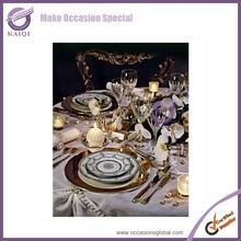 k5929 New Design Luxury antique Wedding Decorative Tray Round Mirror Plates Decoration