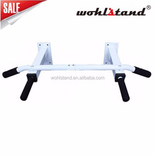 Pull Up Bar Wall Mounted White Metal Chin Up Bar Home Door Fitness Exercise
