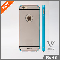 Aluminum Bumper Case For iPhone 6, For iPhone 6 Mirror Back Cover Hybrid Case