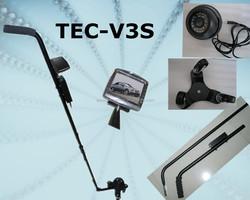 Unexceptional nispection mirrors below vehicles TEC-V3S