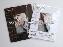 Polybag packing with pen of white and balck Paper photo frame