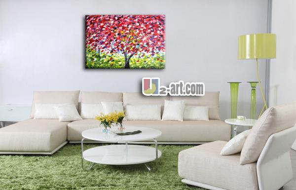 Decorativa tela muro quadri di alberi moderno per camera da letto ...