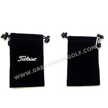 Velveteen Pouch Bag With Golf Tee + Ball Marker + Divot Tool