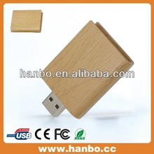 2014 wholesale 8gb usb cable with fre samples wooden card