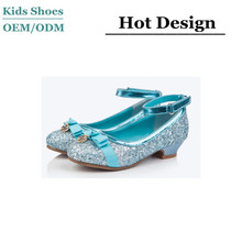 2015 the new supply kids fashion high heel shoes gold giltter citi trends shoes for girls