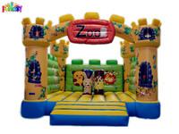 Christmas Zoo inflatable Bouncer, giant animal inflatable bouncer, Canton Fair indoor inflatable bouncer