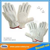 Cheap truck driver cow leather gloves