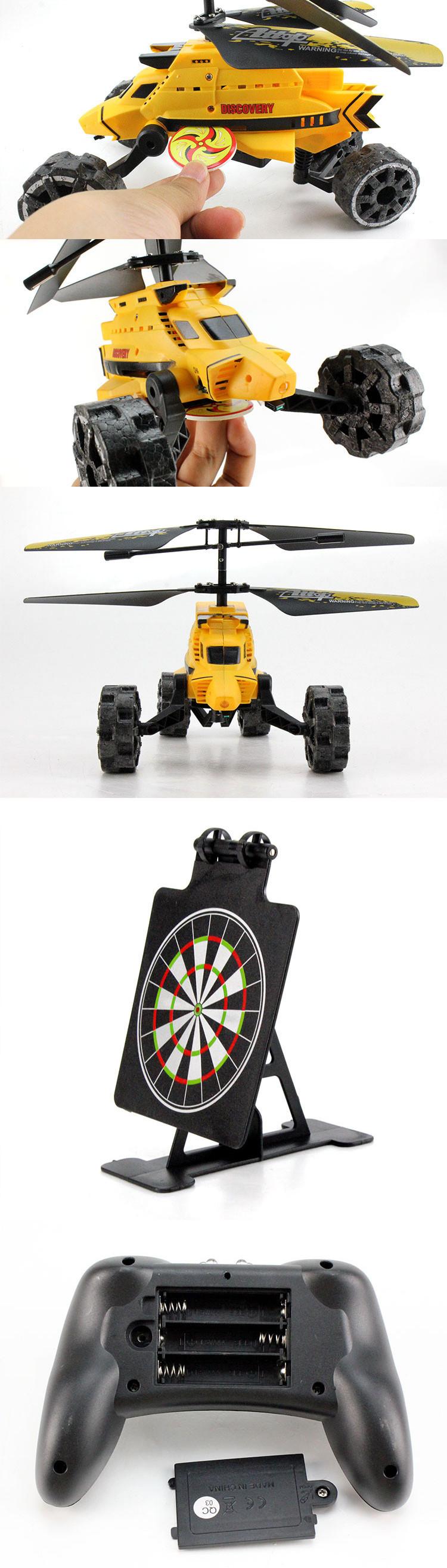 Brinquedo novo por atacado 2CH I / R helicóptero rc car com mísseis