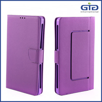 [GGIT] Universal Flip Phone Case Pure Color Universial Leather Cover for 7 Inch Cell PhoneCase