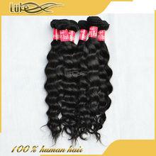 100% exotic raw unprocessed brazilian remy hair cheap brazilian hair weaving 18 inch Ocean Wave